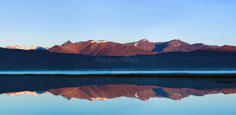 Salzwassersee Tsos Kar in Ladakh, Nord-Indien lizenzfreie stockbilder
