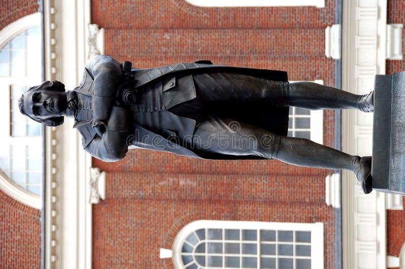 Sam adams bostonu posąg zdjęcie royalty free