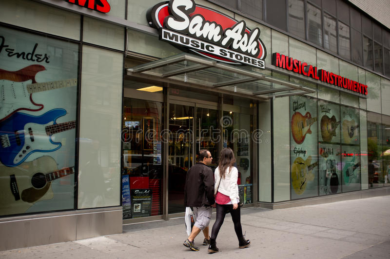 Sam Ash Music Stores Storefront photographie stock libre de droits