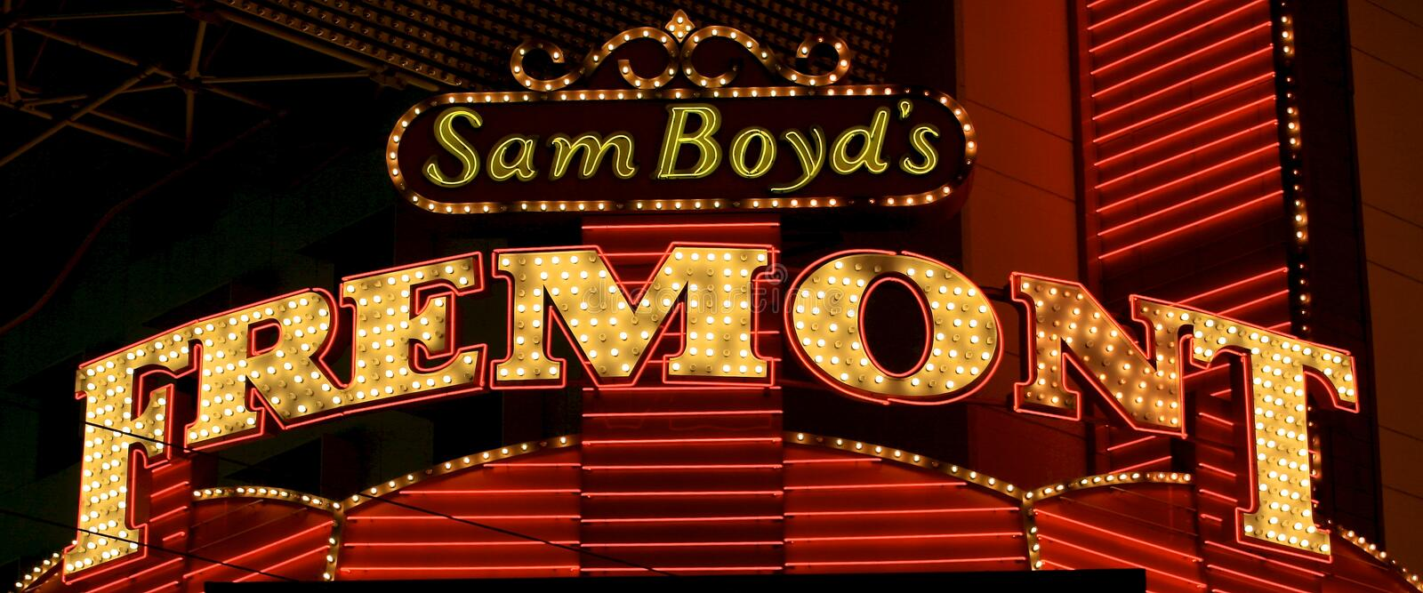 Sam Boyd's. The original Sam Boyd's on Fremont Street in Las Vegas Nevada stock photography