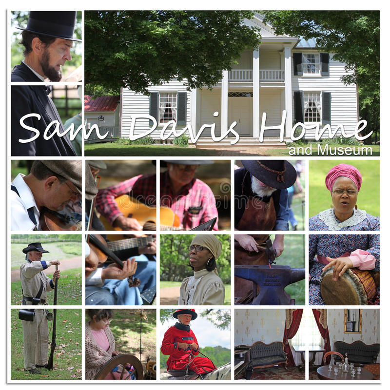 Sam Davis Home and Museum. Smyrna, Tennessee, USA, May 6, 2011, The Sam Davis Home and Museum built along the banks of Stewarts Creek in 1810. This historical royalty free stock image