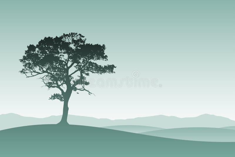 sam drzewo royalty ilustracja