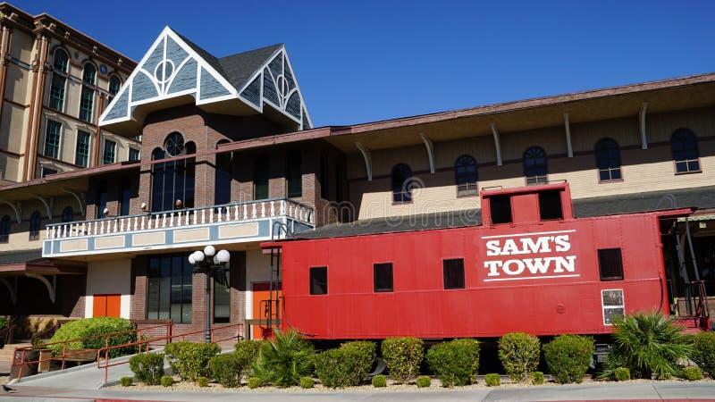 Sam Grodzki hotel & Uprawiać hazard Hall w Las Vegas, Nevada zdjęcia royalty free