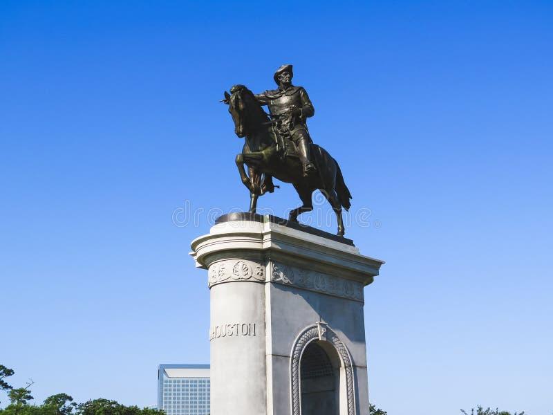 Sam Houston Memorial Houston Texas. Sam Houston monument statue in Hermann Park in Houston Texas royalty free stock images