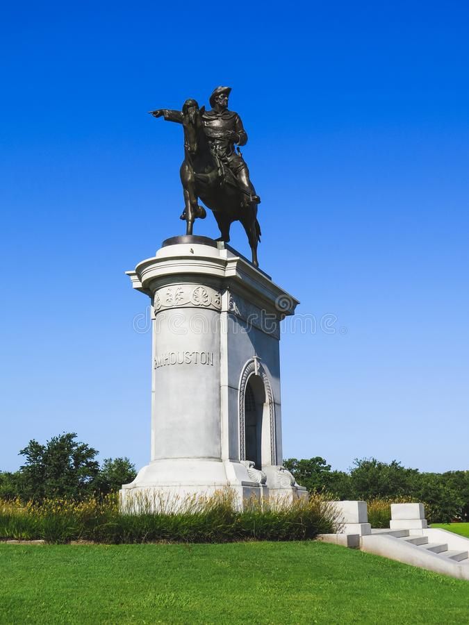 Sam Houston Monument Houston Texas foto de stock royalty free