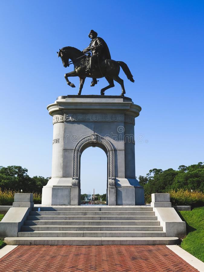 Sam Houston Statue Houston Texas foto de stock