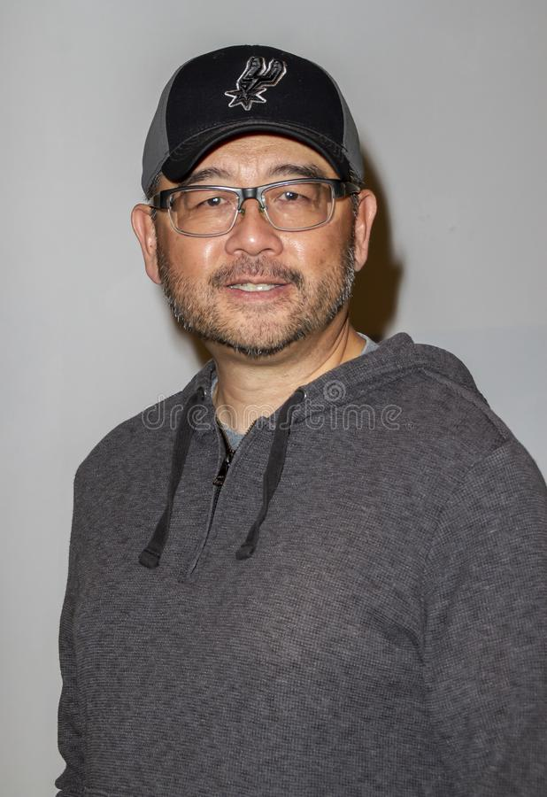 Sam Liu bij de première van Reign van Supermannen royalty-vrije stock fotografie