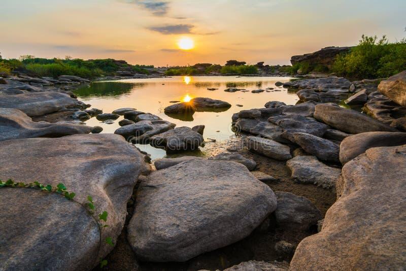 Sam Pan Boak le canyon grand de la Thaïlande photographie stock