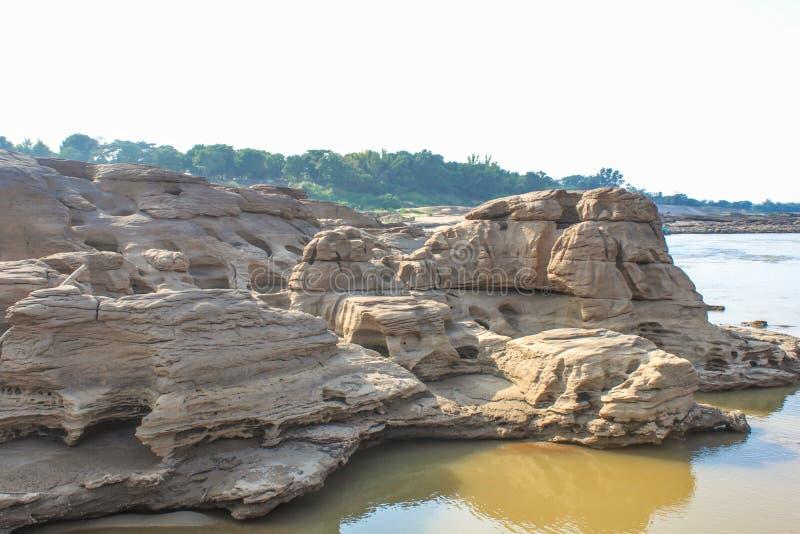 Sam Pan Bok Grand Canyon de la Thaïlande, pierre dans la forme nationale image libre de droits