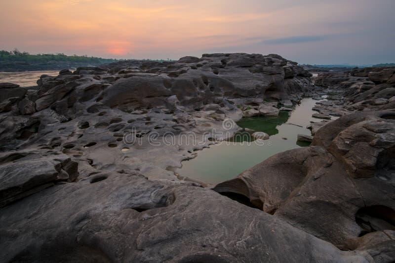 Sam Phan Bok Canyon, Grand Canyon de la Thaïlande photographie stock
