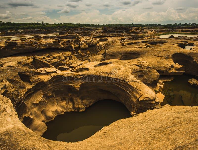 Sam Phan Bok - Grand Canyon de Tailândia fotografia de stock