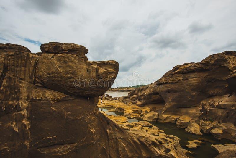 Sam Phan Bok - Grand Canyon van Thailand royalty-vrije stock afbeeldingen