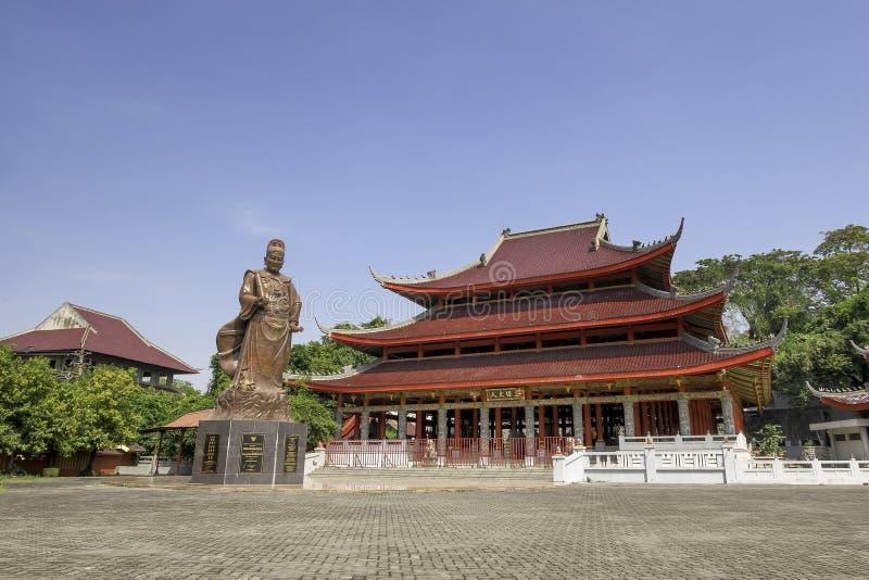 Sam Poo Kong-tempel, ook als de Tempel die van Gedung wordt bekend Batu stock afbeelding