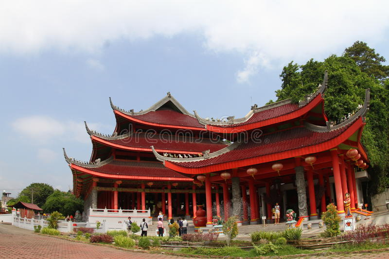 Sam poo kong temple. Sam Poo Kong also known as Gedung Batu Temple, is the oldest Chinese temple in Semarang, Central Java, Indonesia. Originally established by stock photo
