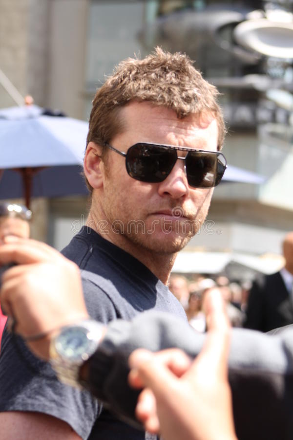 sam worthington obraz stock