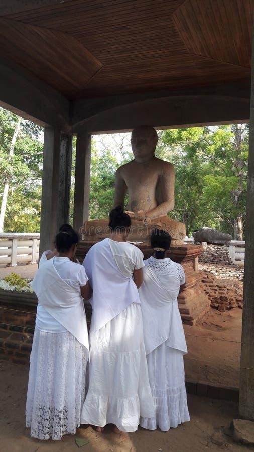 Samadhi菩萨状态anuradhapura,斯里兰卡 免版税库存图片