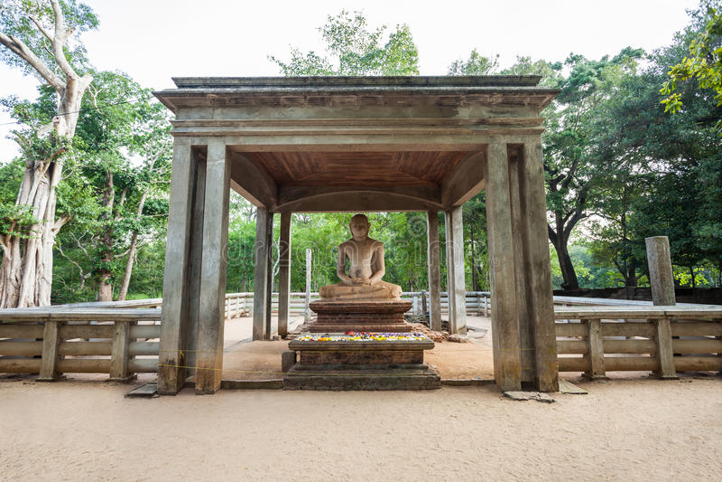 Samadhi菩萨雕象,阿努拉德普勒 免版税库存图片