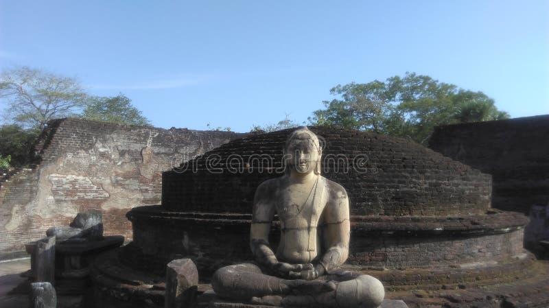 Samadhi菩萨雕象anuradapuura斯里兰卡 库存图片