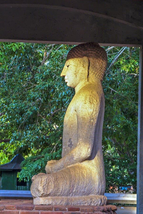Samadhi Buddah staty som mediterar Buddah, skönhet och helighet arkivfoto