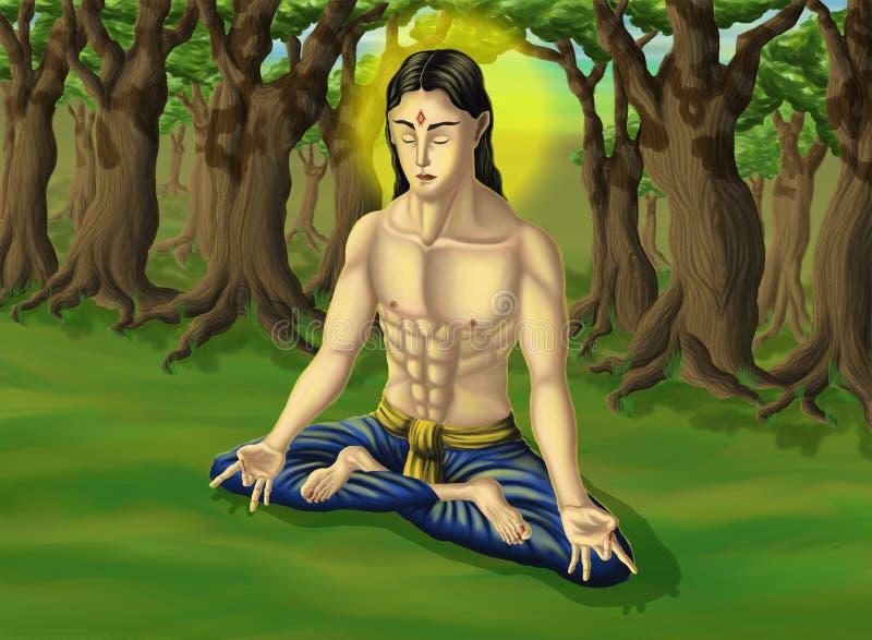 Samadhi de yoga illustration libre de droits