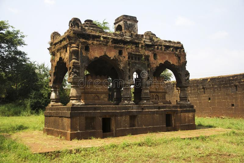 Samadhi or tomb of Shankaracharya at Panchganga Ghat Kolhapur, Maharashtra royalty free stock photos
