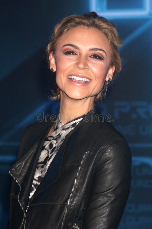 Samaire Armstrong stock afbeelding