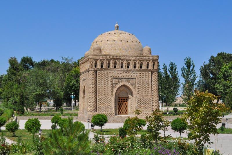 Samanid陵墓位于布哈拉的历史都市中坚力量  免版税库存照片