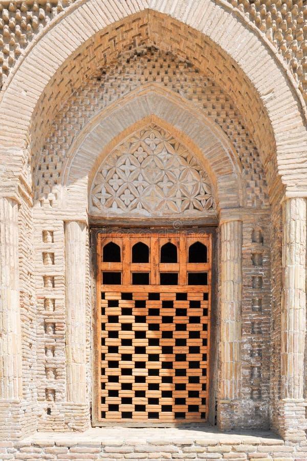 Samanid陵墓位于布哈拉的历史都市中坚力量  库存照片