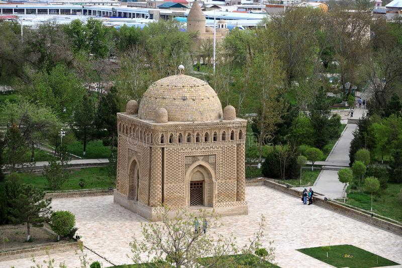 Samanid陵墓在Buchara,乌兹别克斯坦 库存照片