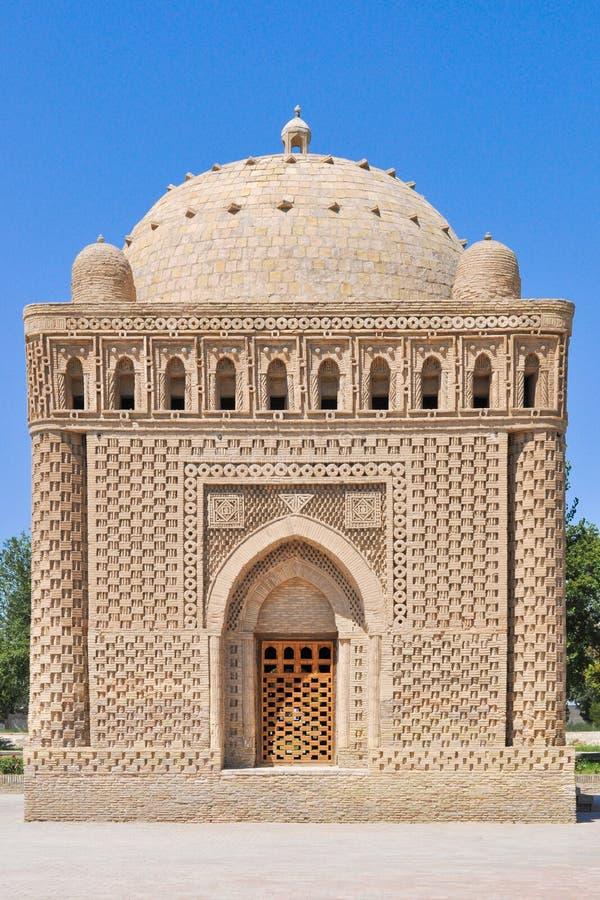 Samanid mauzoleum lokalizuje w dziejowym miastowym j?drze miasto Bukhara obrazy stock