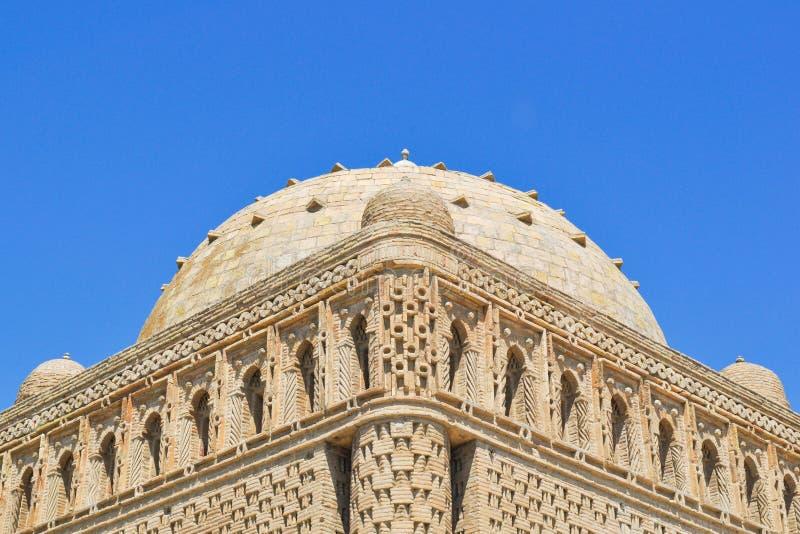 Samanid mauzoleum lokalizuje w dziejowym miastowym j?drze miasto Bukhara zdjęcie royalty free