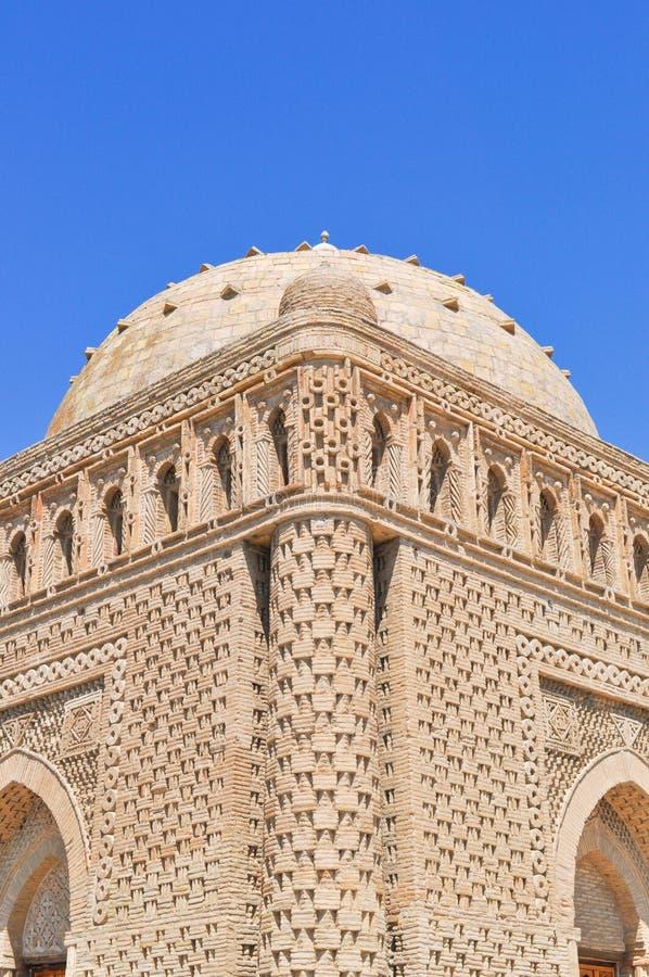 Samanid mauzoleum lokalizuje w dziejowym miastowym j?drze miasto Bukhara obrazy royalty free