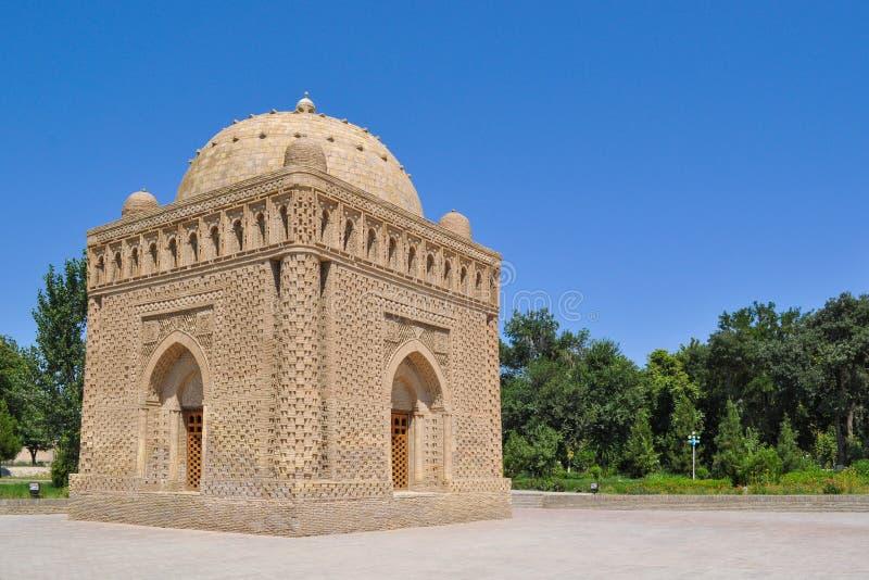 Samanid mauzoleum lokalizuje w dziejowym miastowym j?drze miasto Bukhara fotografia stock