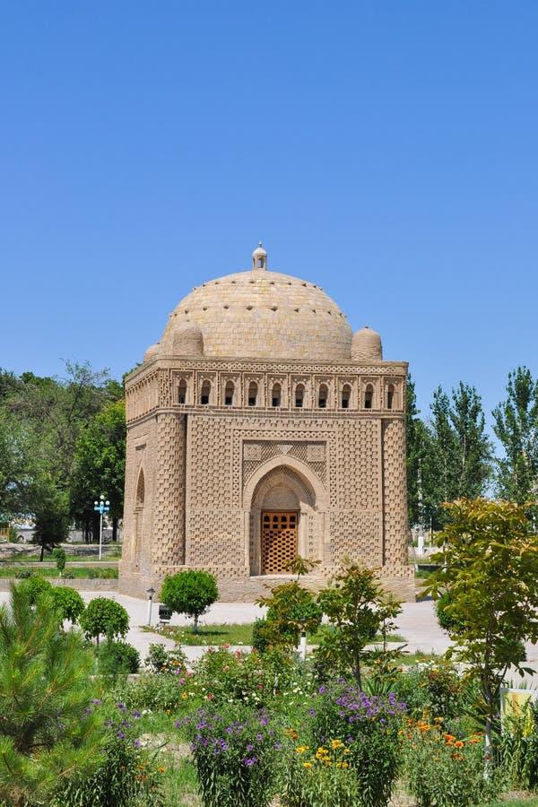 Samanid mauzoleum lokalizuje w dziejowym miastowym j?drze miasto Bukhara fotografia royalty free