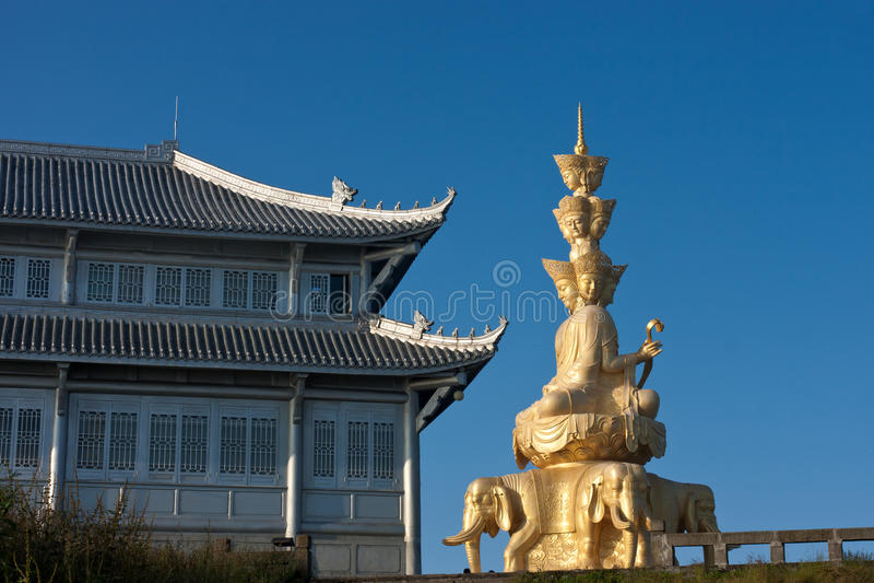 Samantabhadra Statue lizenzfreie stockfotos