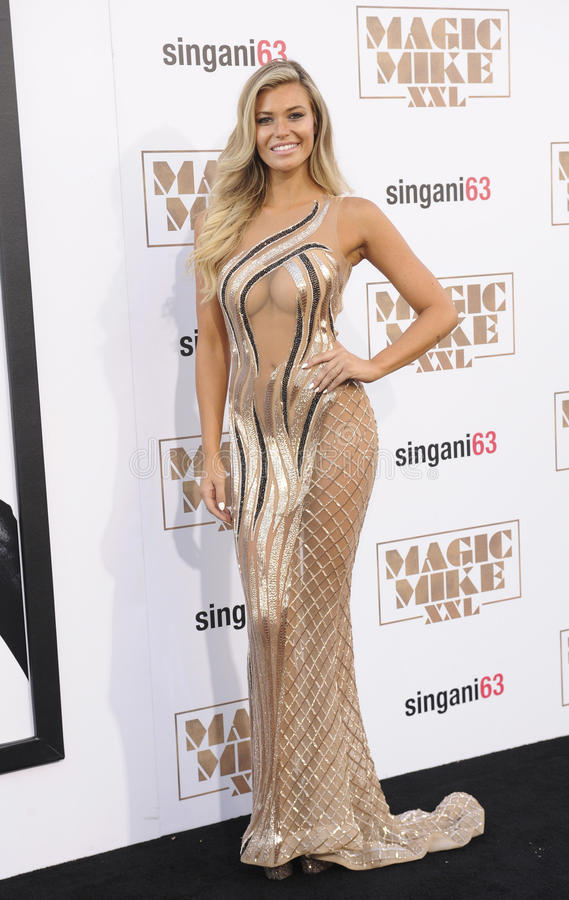 Samantha Hoopes. At the World premiere of 'Magic Mike XXL' held at the TCL Chinese Theatre in Hollywood, USA on June 25, 2015 royalty free stock photo