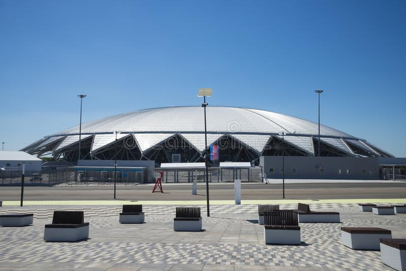 Samara Arena football stadium. Samara - the city hosting the FIFA World Cup in Russia in 2018. stock image