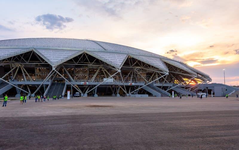 Samara Arena fotbollsarena fotografering för bildbyråer
