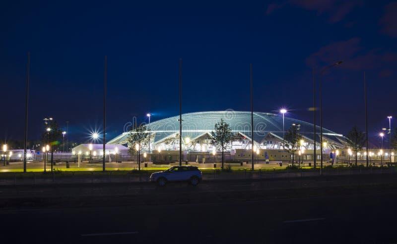 Samara Arena fotbollsarena Samara - staden som är värd den FIFA världscupen i Ryssland i 2018 arkivfoto
