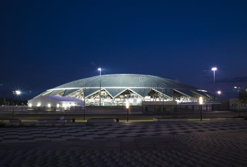 Samara Arena fotbollsarena Samara - staden som är värd den FIFA världscupen i Ryssland i 2018 arkivfoton