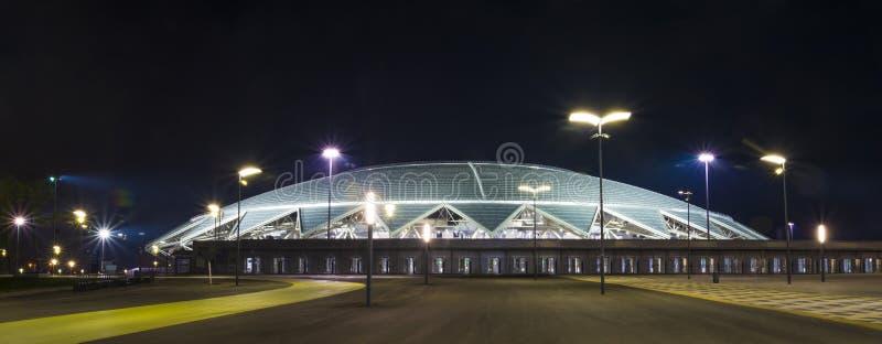 Samara Arena fotbollsarena Samara - staden som är värd den FIFA världscupen i Ryssland i 2018 royaltyfria bilder