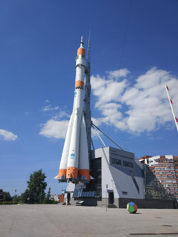 In Samara, is er ook een Museum van ruimtevaarttechnologie royalty-vrije stock foto's