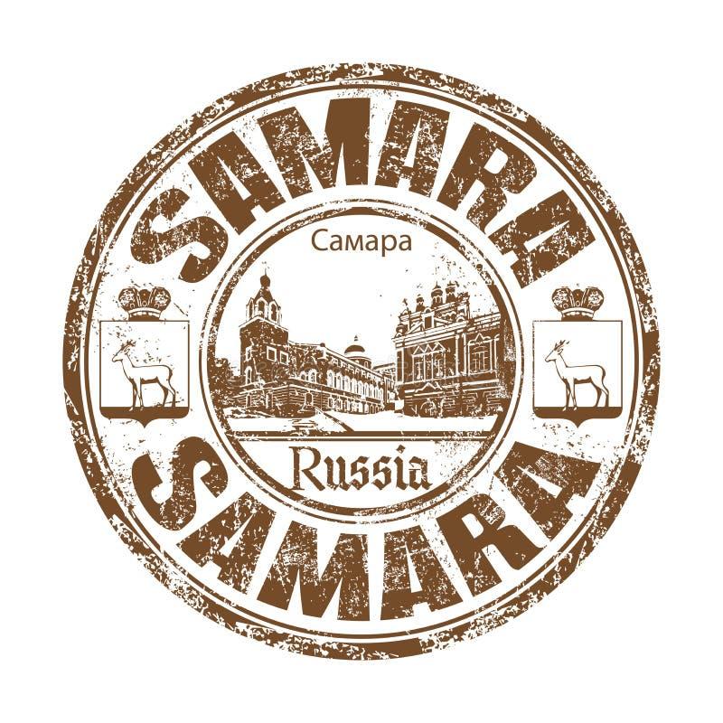 Samara grunge rubber stamp royalty free stock photography