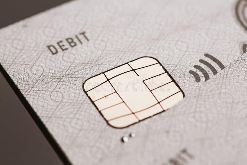 Samara, Rússia 25 de julho 2016: pagamento sem contato do sinal da microplaqueta do cartão de crédito do visto do débito fotografia de stock