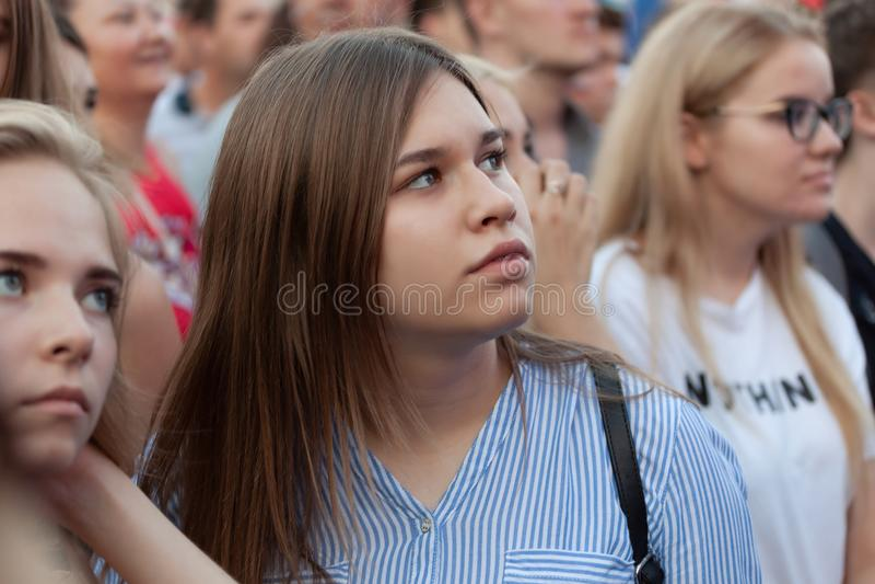Samara, Russia, July 7, 2018. The FIFA world Cup royalty free stock photo