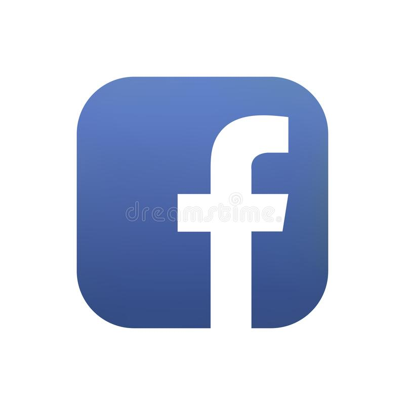 Samara, Russian Federation - August 4, 2018: Editorial animation. Facebook logo icon. Facebook is the most popular. Samara, Russian Federation - August 4, 2018 stock illustration