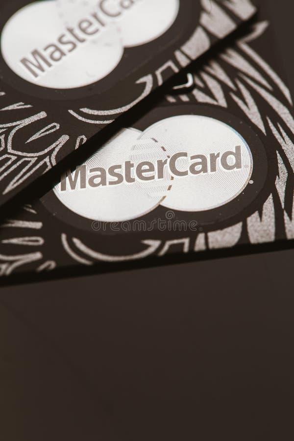 Samara, Russie 25 juillet 2016 : Carte de crédit de privilège de MasterCard photo stock