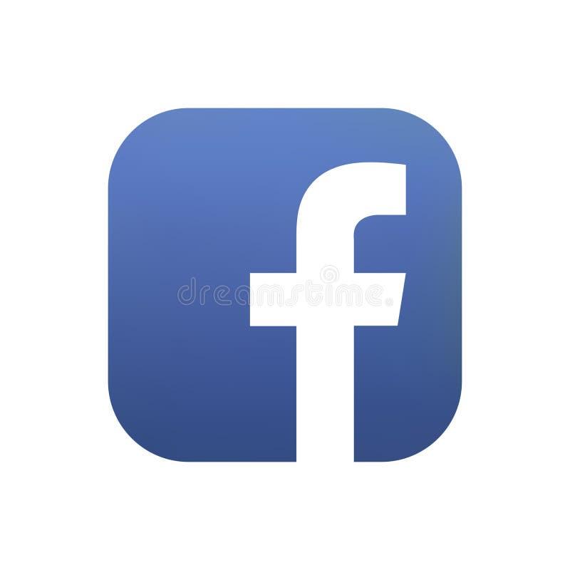 Samara, Russische Federatie - 4 Augustus, 2018: Redactieanimatie Facebook-embleempictogram Facebook is het populairst stock illustratie