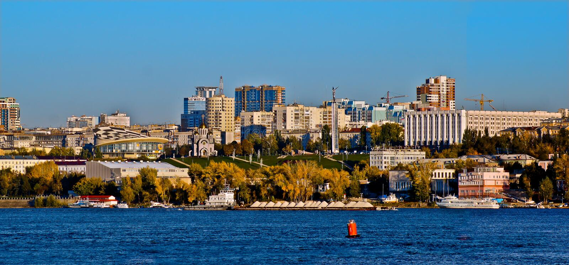 Samara. Sames architectural styles stock photo