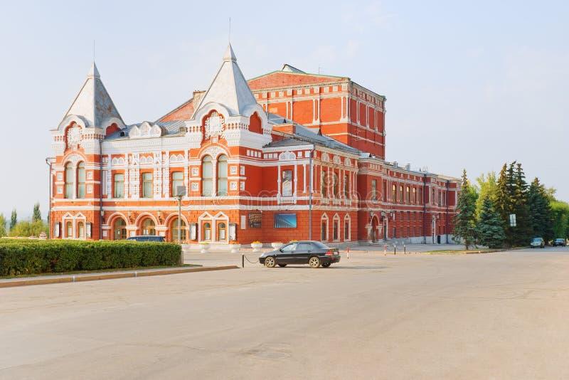 Samara, teatro do drama fotos de stock